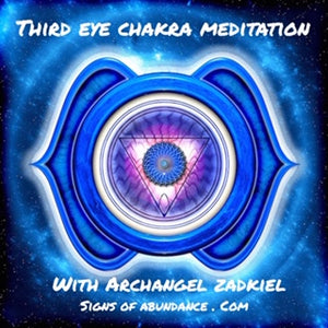 Third Eye Chakra Guided Meditation with Archangel Zadkiel for intuition clarity and focus psychic