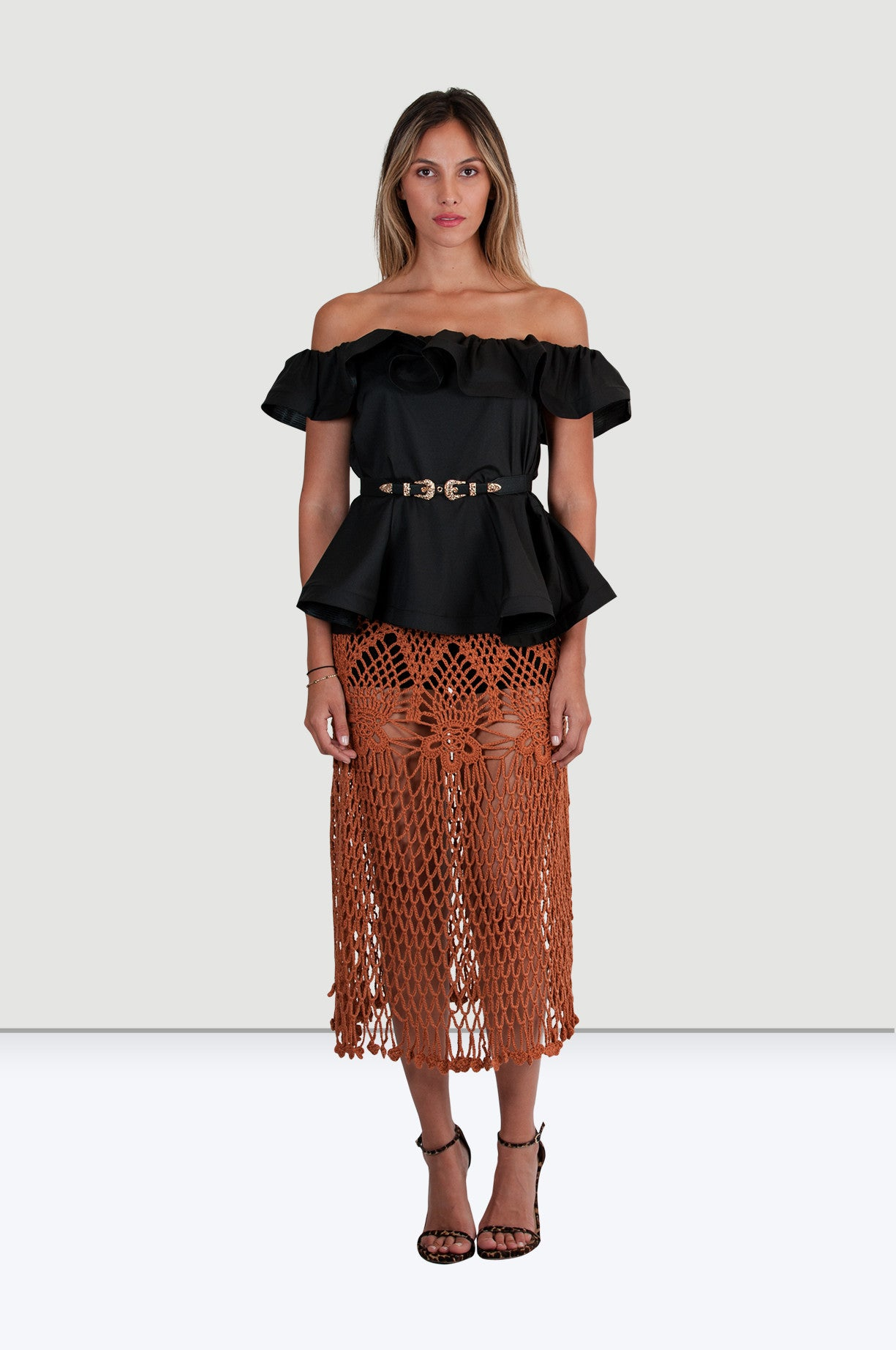 Cali Off Shoulder Blouse - Jade and Camil