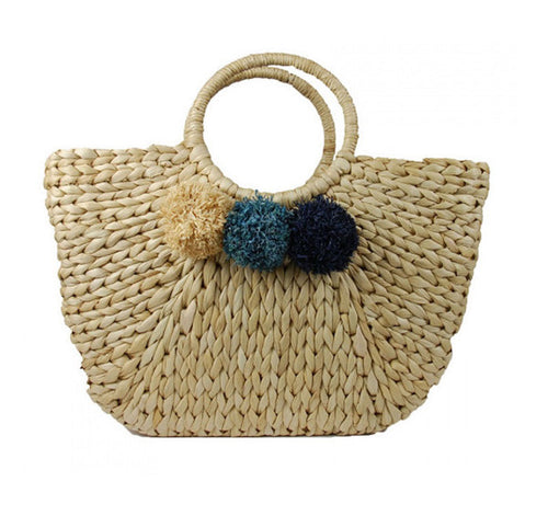 Pom Pom Tote - Jade and Camil