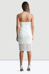 White Pencil Dress - Jade and Camil