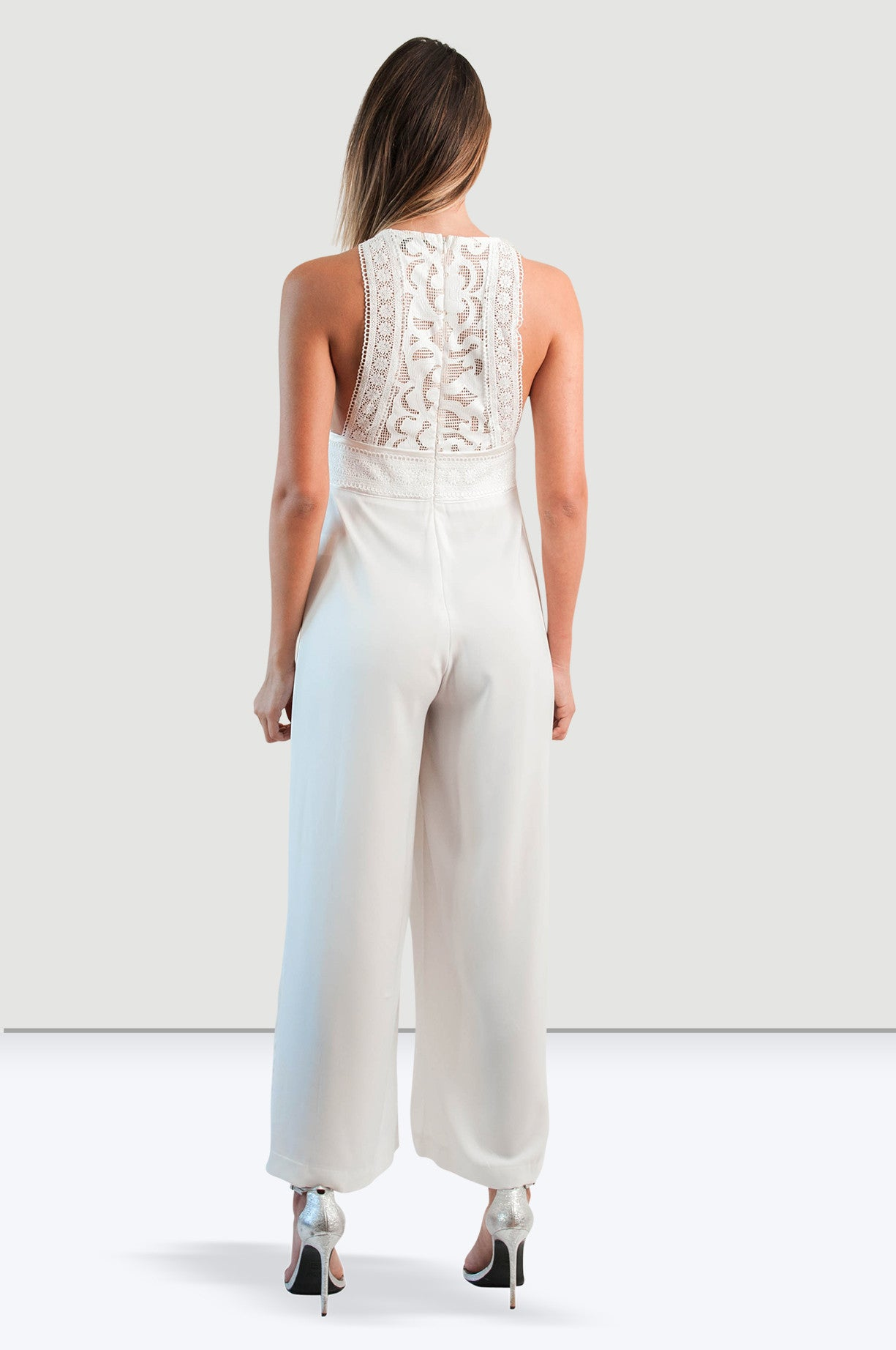 White Leave Jump Suit - Jade and Camil