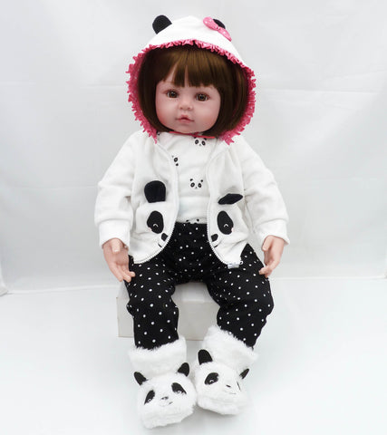 Bebes reborn doll 47cm Baby girl Dolls soft Silicone Boneca Reborn Brinquedos Bonecas children's day gifts toys bed time plamate - tonybz