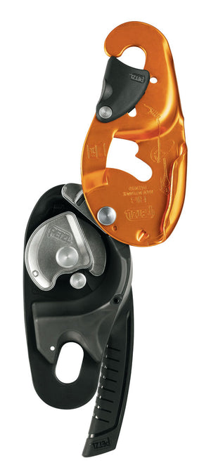 RIG descender / belay device, NFPA  yellow