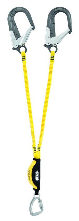ABSORBICA-Y 150 MGO double lanyard with energy absorber, captive carabiner, MGO, ANSI, 150cm