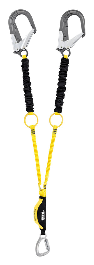 ABSORBICA-Y TIE-BACK with energy absorber, tie-back rings, captive carabiner, MGO, ANSI, 150cm Petzl