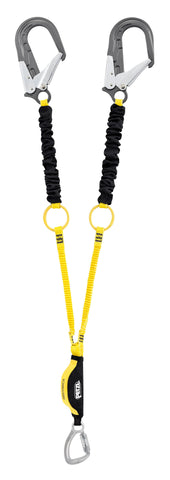 ABSORBICA-Y TIE-BACK with energy absorber, tie-back rings, captive carabiner, MGO, ANSI, 150cm
