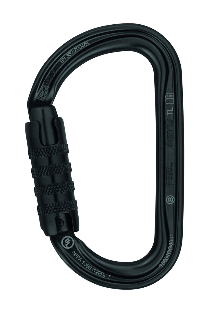 AM'D H-frame carabiner, Black, TRIACT-LOCK Petzl