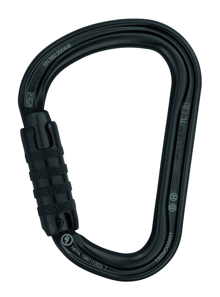 WILLIAM H-frame carabiner, Black, TRIACT-LOCK