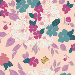 Art Gallery Flowery Chant Wild Pink floral fabric
