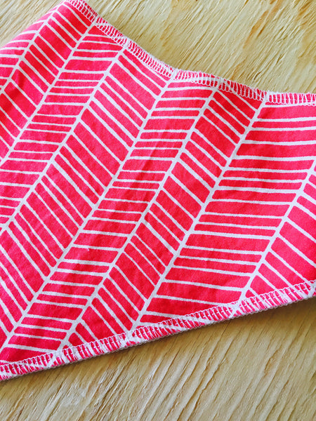 Bright Pink Bandana Bib - Stylish Little Ones Boutique
