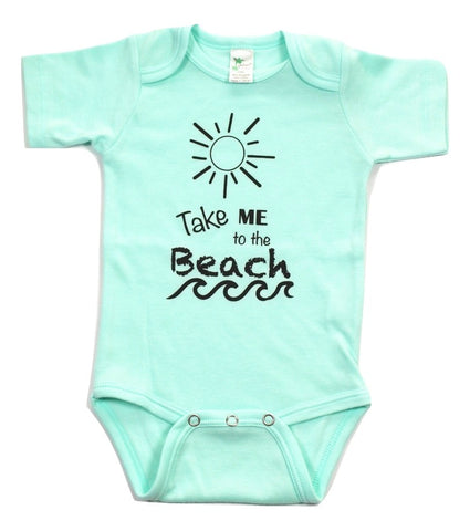 "Summer Baby Mint, Pink, Blue Bodysuit ""Take Me to the Beach"" - Stylish Little Ones Boutique"