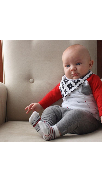 Baby Boy Black and White Bandana Bib - Stylish Little Ones Boutique