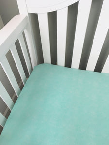 Teal Gender Neutral Baby Fitted Crib Sheets - Stylish Little Ones Boutique