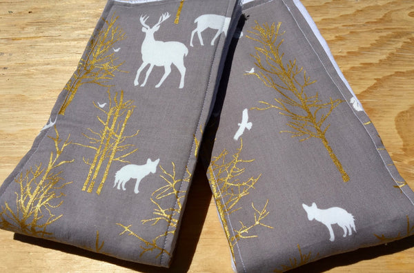 Woodsy Burp Cloth/ Hunter Burp Cloth/ Deers and Woods Burp Cloths: Set of 2/ Gift for Baby/ Baby Shower Gift/ Woodsy Nursery/ - Stylish Little Ones Boutique