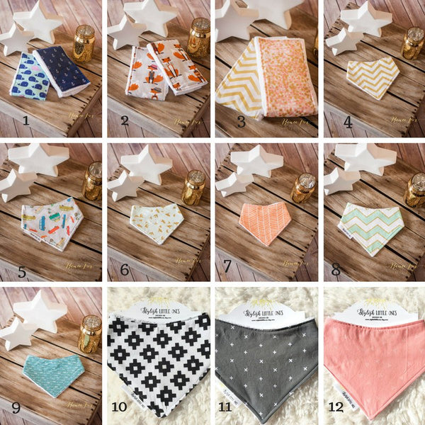 3 Bandana Bibs - Stylish Little Ones Boutique