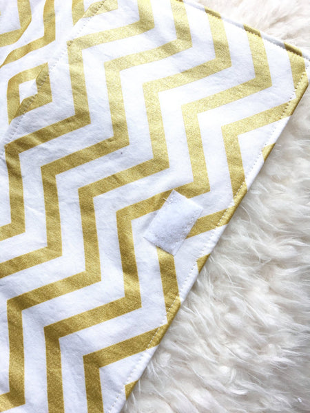 Gold Diaper Clutch/ Gold Chevron Diaper Clutch/ Baby Shower Gift/ Baby Gift Under 20/ Girl Diaper Clutch/ Gift for Mom - Stylish Little Ones Boutique
