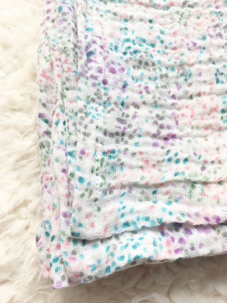 Confetti Polka Dots Baby Muslin Swaddle Blanket - Stylish Little Ones Boutique