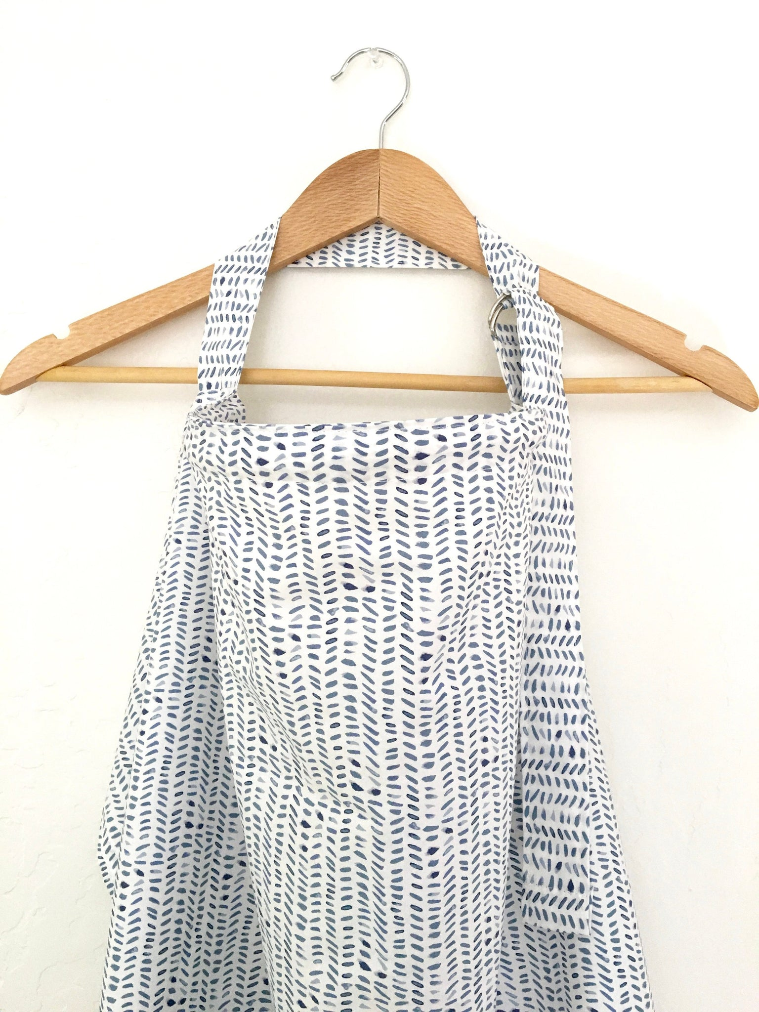 Wire Nursing Cover/ Blue Chevron Nursing Cover/ Hooter Hider/ Baby Shower Gift/ Gift for New Mom/ Gender Neutral Breastfeeding Cover - Stylish Little Ones Boutique