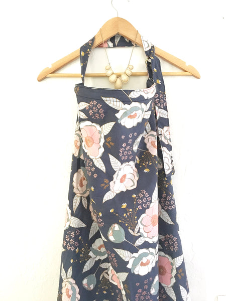 Wire Navy Floral Nursing Cover - Stylish Little Ones Boutique