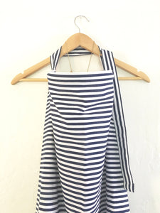 Navy Blue Striped Wire Nursing Cover - Stylish Little Ones Boutique
