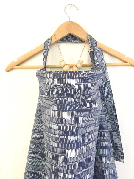 Wire Nursing Cover/Modern Blue Nursing Cover/ Hooter Hider/ / Gift for New Mom/ Neutral Breastfeeding Cover - Stylish Little Ones Boutique