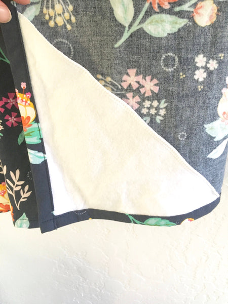 Wire Navy Floral Nursing Breastfeeding Cover - Stylish Little Ones Boutique