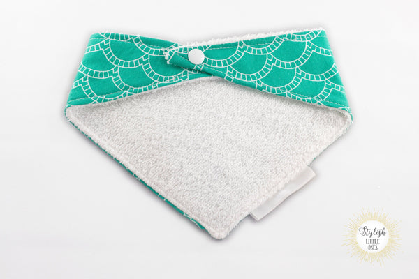 Teal Baby Bandana Terry Cloth Bib/ Gender Neutral Baby Bandana Bib/ Sea Foam Green Drool Bib/ Stylish Baby Bib/ Baby Shower Gift - Stylish Little Ones Boutique