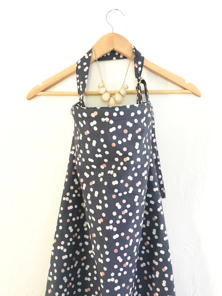 Navy, Pink and Gold Polka Dots Wire Nursing Breastfeeding Cover - Stylish Little Ones Boutique