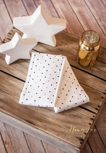 Black and Gold Polka Dotted Burp Cloths/ Girl and Boy Burp Cloth/ Baby Shower Gift - Stylish Little Ones Boutique