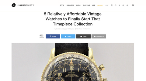 vintage watches to invest in