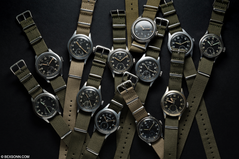 dirty dozen military watches vintage