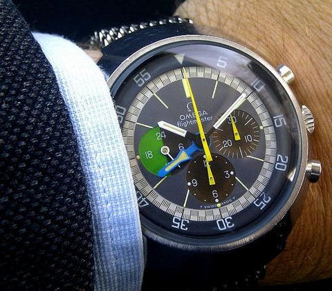 omega vintage flightmaster  vintage watch