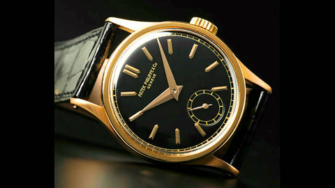 patek phillipe  vintage watch black
