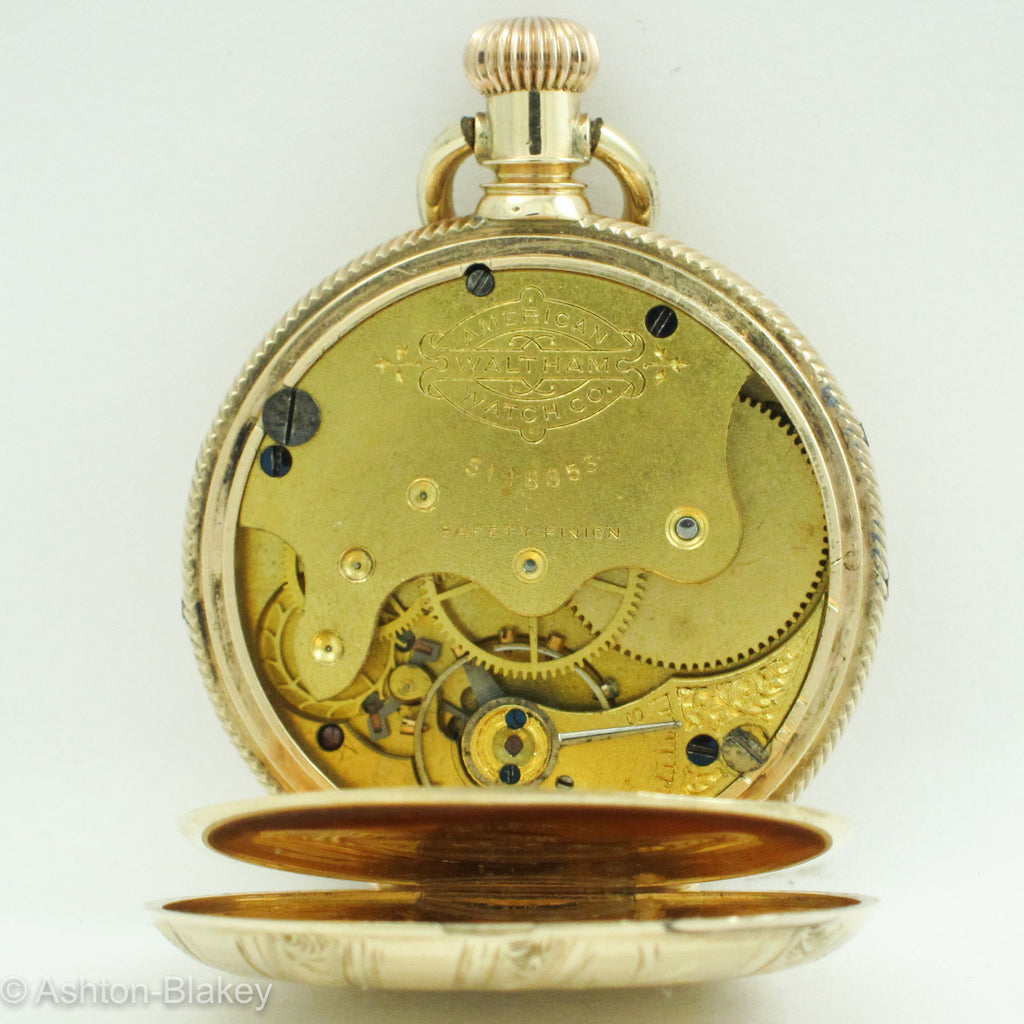 Waltham 14K Gold Lady's  Pocket Watch Pocket Watches - Ashton-Blakey Vintage Watches