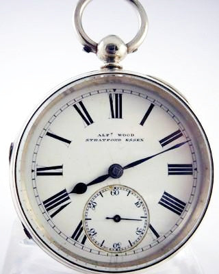 ENGLISH Sterling Silver lever escapement Pocket Watch