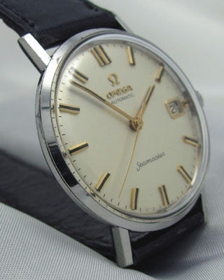 OMEGA SEAMASTER with DATE - Stainless steel Vintage Watch Wrist Watches - Ashton-Blakey Vintage Watches