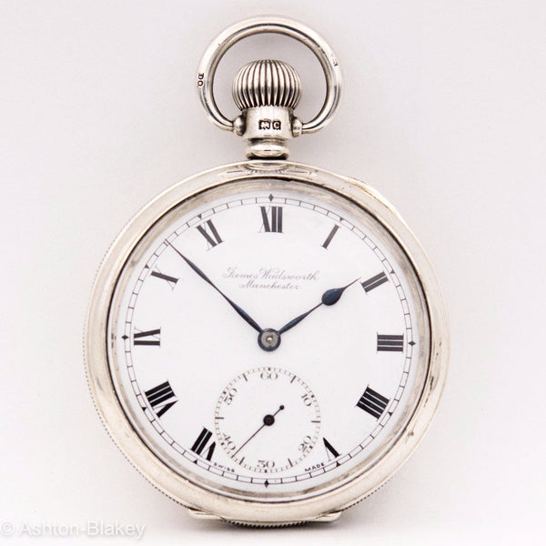 STERLING SILVER  CYMA POCKET WATCH