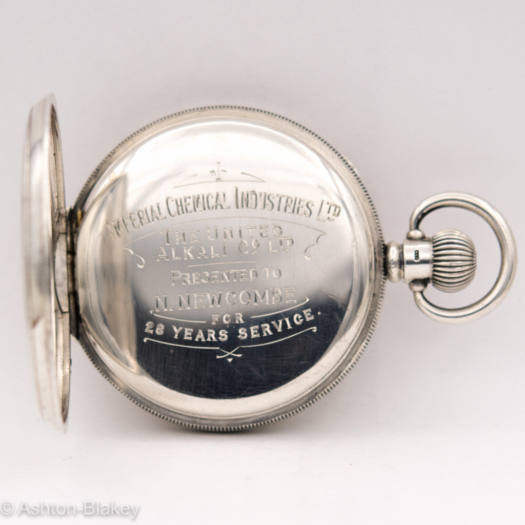 STERLING SILVER  CYMA Pocket Watch Pocket Watches - Ashton-Blakey Vintage Watches