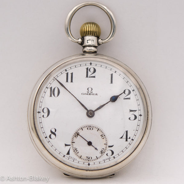 OMEGA STERLING SILVER POCKET WATCH