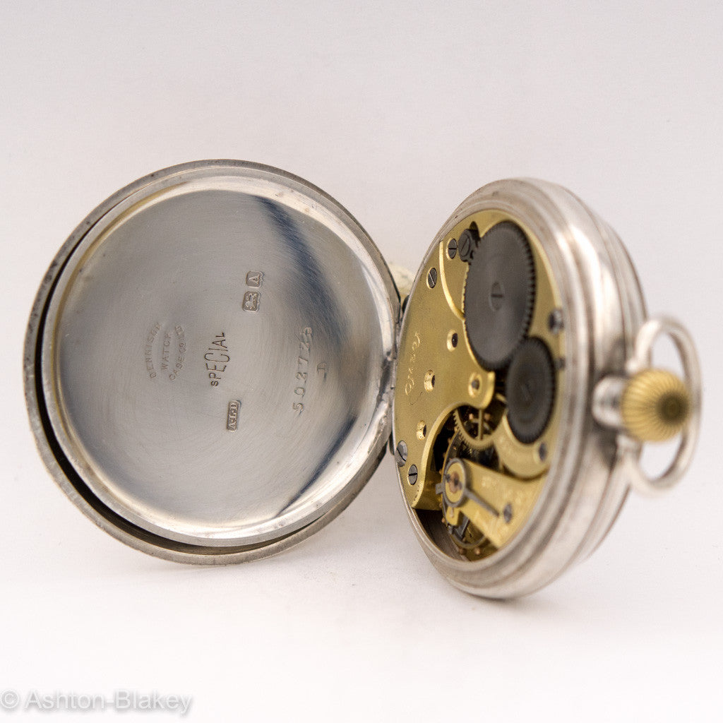 OMEGA STERLING SILVER POCKET WATCH Pocket Watches - Ashton-Blakey Vintage Watches