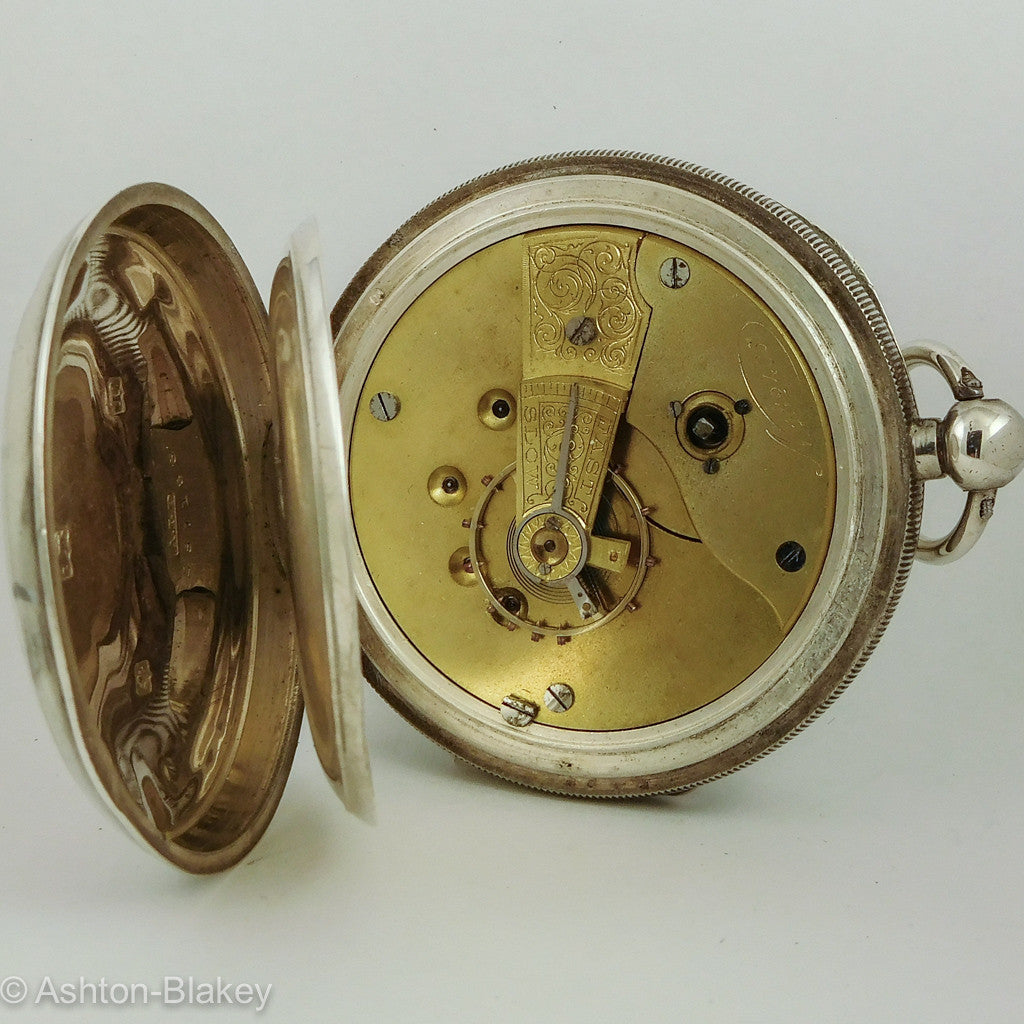 ENGLISH SILVER  Pocket Watch   Sold Out Pocket Watches - Ashton-Blakey Vintage Watches