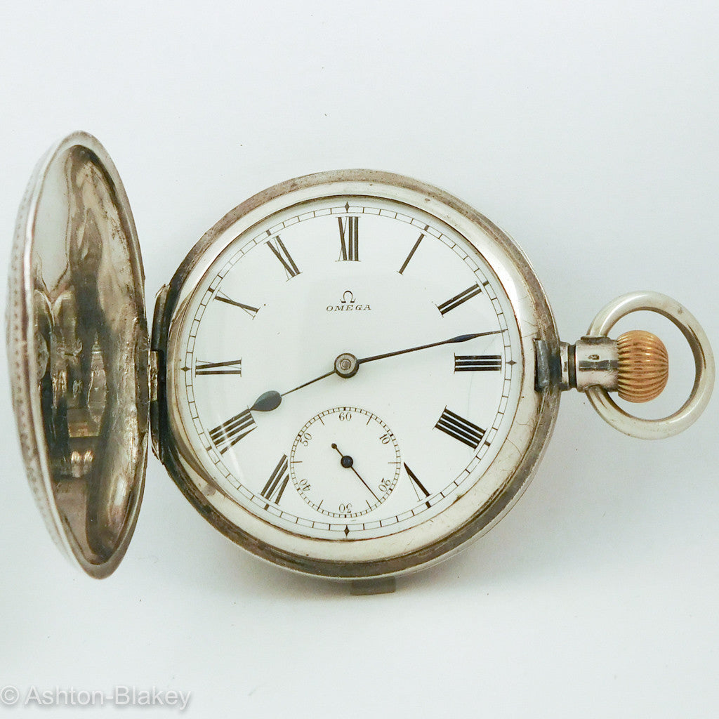 OMEGA ART NOUVEAU POCKET WATCH