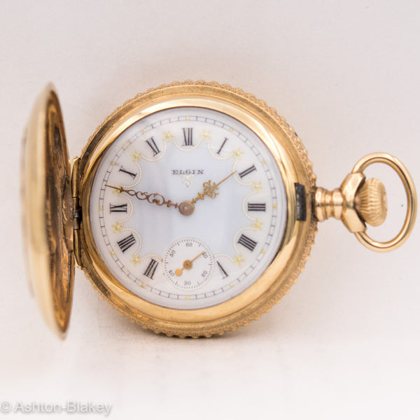 ELGIN MULTICOLOR POCKET WATCH