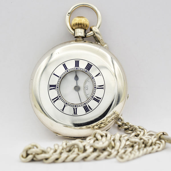 ENGLISH - SILVER Demi-Hunter Pocket Watch Pocket Watches - Ashton-Blakey Vintage Watches