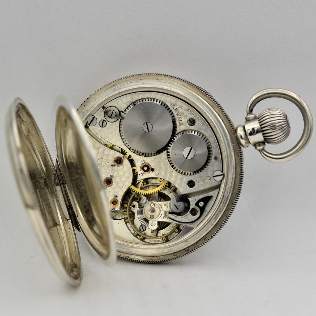 ENGLISH Silver Man's Pocket Watch Pocket Watches - Ashton-Blakey Vintage Watches