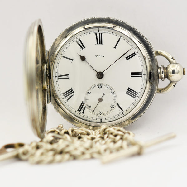 ENGLISH SILVER Pocket Watch with Chain Pocket Watches - Ashton-Blakey Vintage Watches