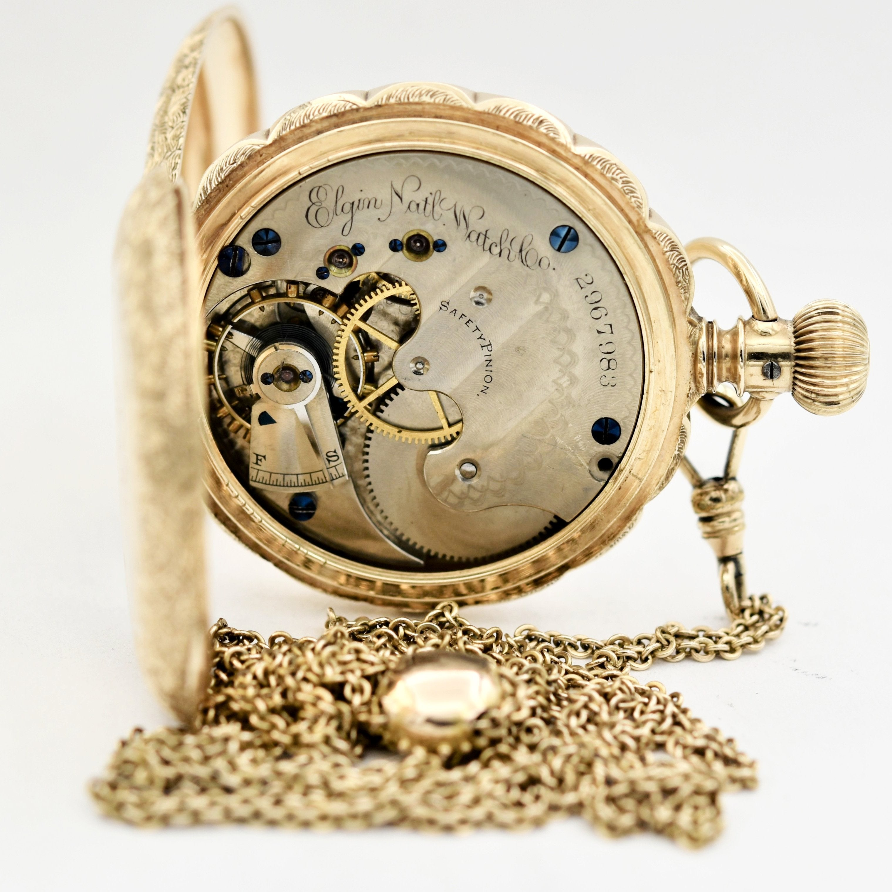 607be7f39 ELGIN 14K Gold Pocket Watch with Chain Pocket Watches - Ashton-Blakey  Vintage Watches ...