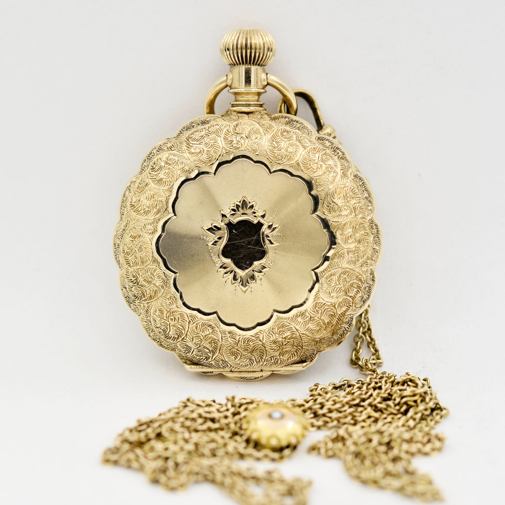 ELGIN 14K Gold Pocket Watch with Chain Pocket Watches - Ashton-Blakey Vintage Watches
