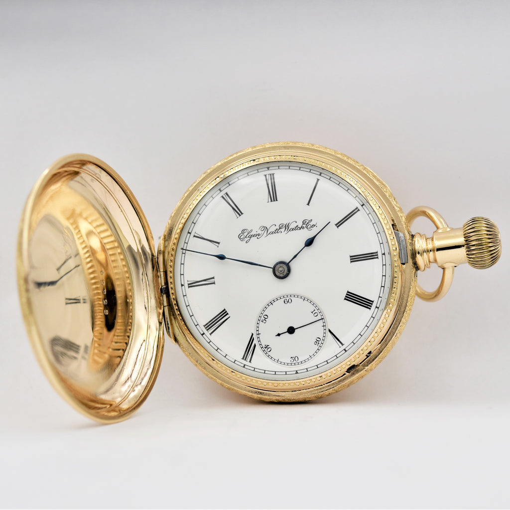 ELGIN Hunting Cased Pocket Watch Pocket Watches - Ashton-Blakey Vintage Watches
