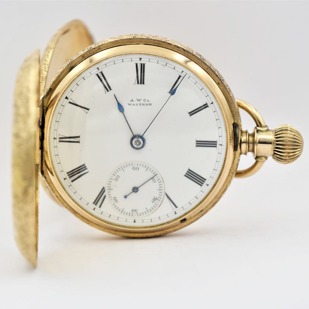 WALTHAM 18K Gold  Pocket Watch Pocket Watches - Ashton-Blakey Vintage Watches